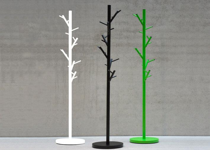 porte manteau design original forme arbre en metal laque noir blanc ou vert tree par jankurtz