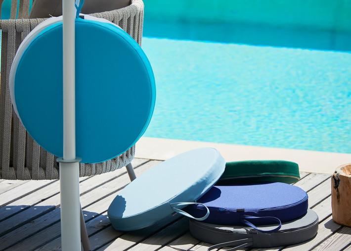 coussins galette pour chaises de jardin 40x40 ou o40 vendus par 2 unites 6 couleurs sun poolkissen par jankurtz
