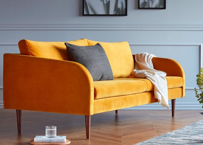 canape 2 places 2 5 places ou 3 places design scandinave en tissu ou cuir coloris varies husum par kragelund