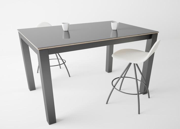 table snack ou console h 90 en metal et verre noir gris blanc ou tourterelle tokio snack par cancio