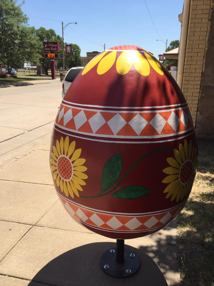 Czech eggs decorate downtown Wilson.