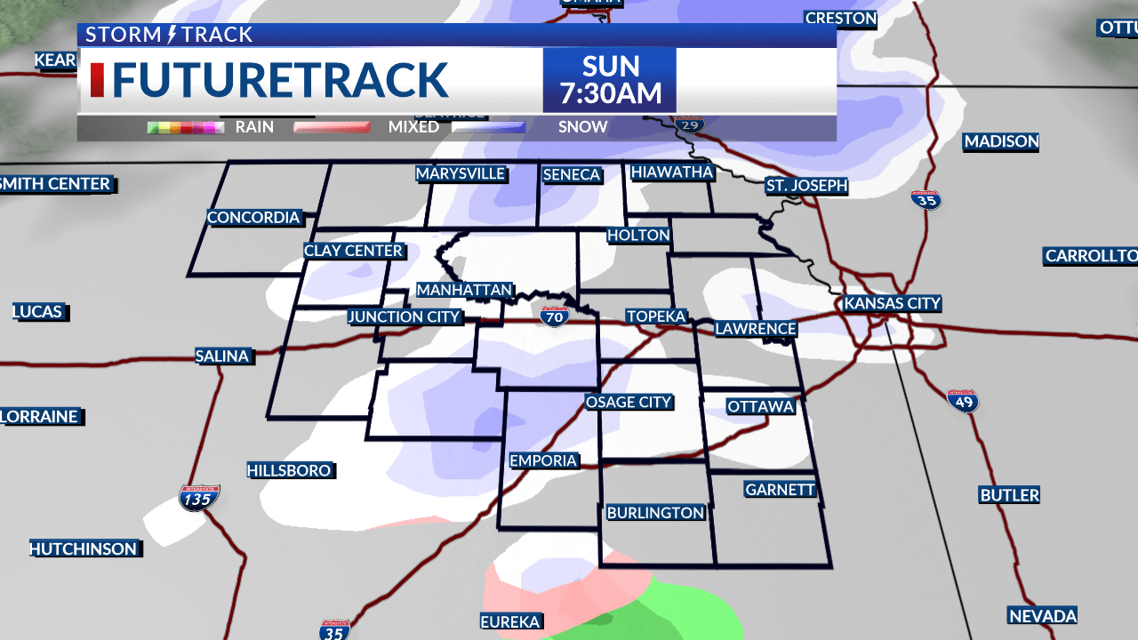 Freezing drizzle possible early Sunday
