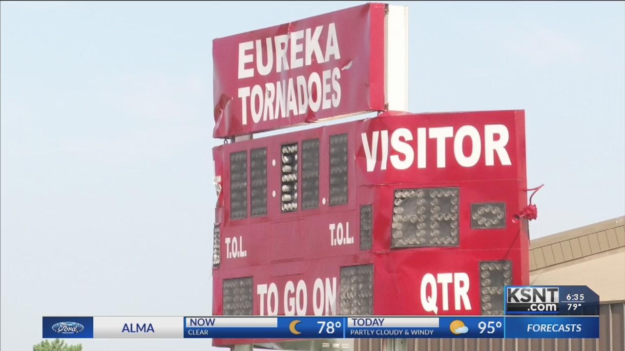 No home football games for Eureka High School after tornado damage
