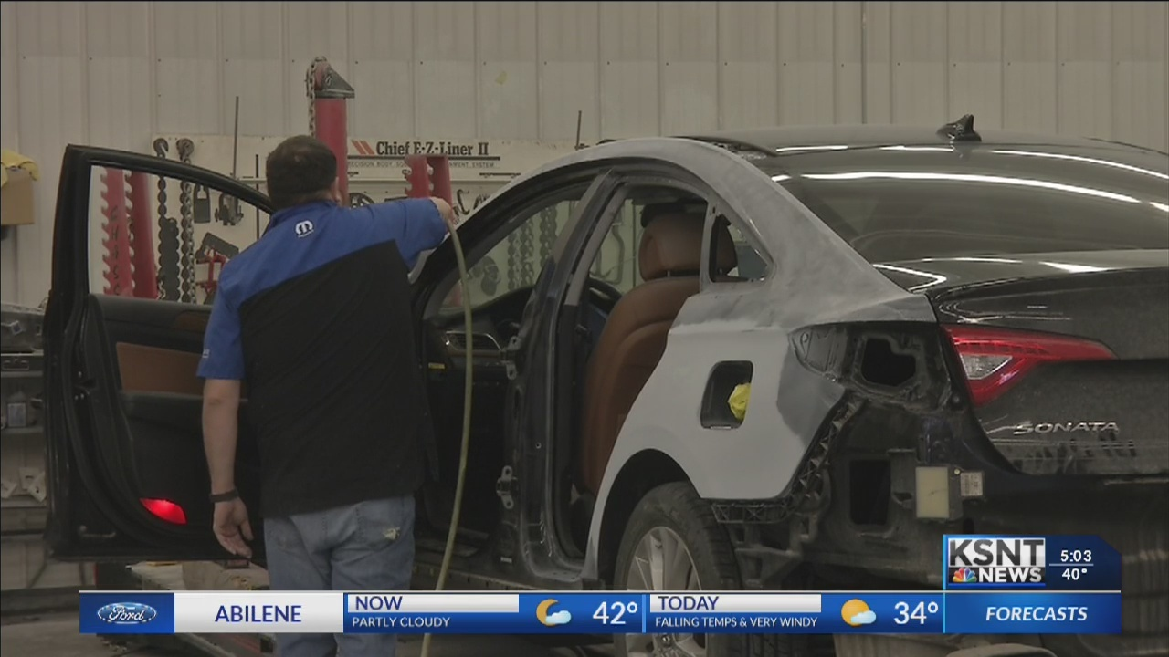 Experts say body shop business goes up after winter weather