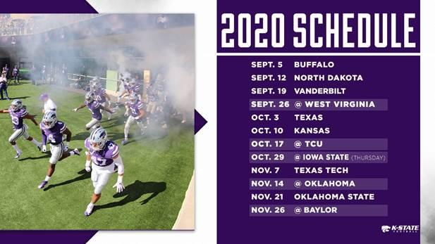 Okstate Final Exam Schedule Spring 2020.Ksu Football Schedule 2020 Schedule 2020 Hermanbroodfilm