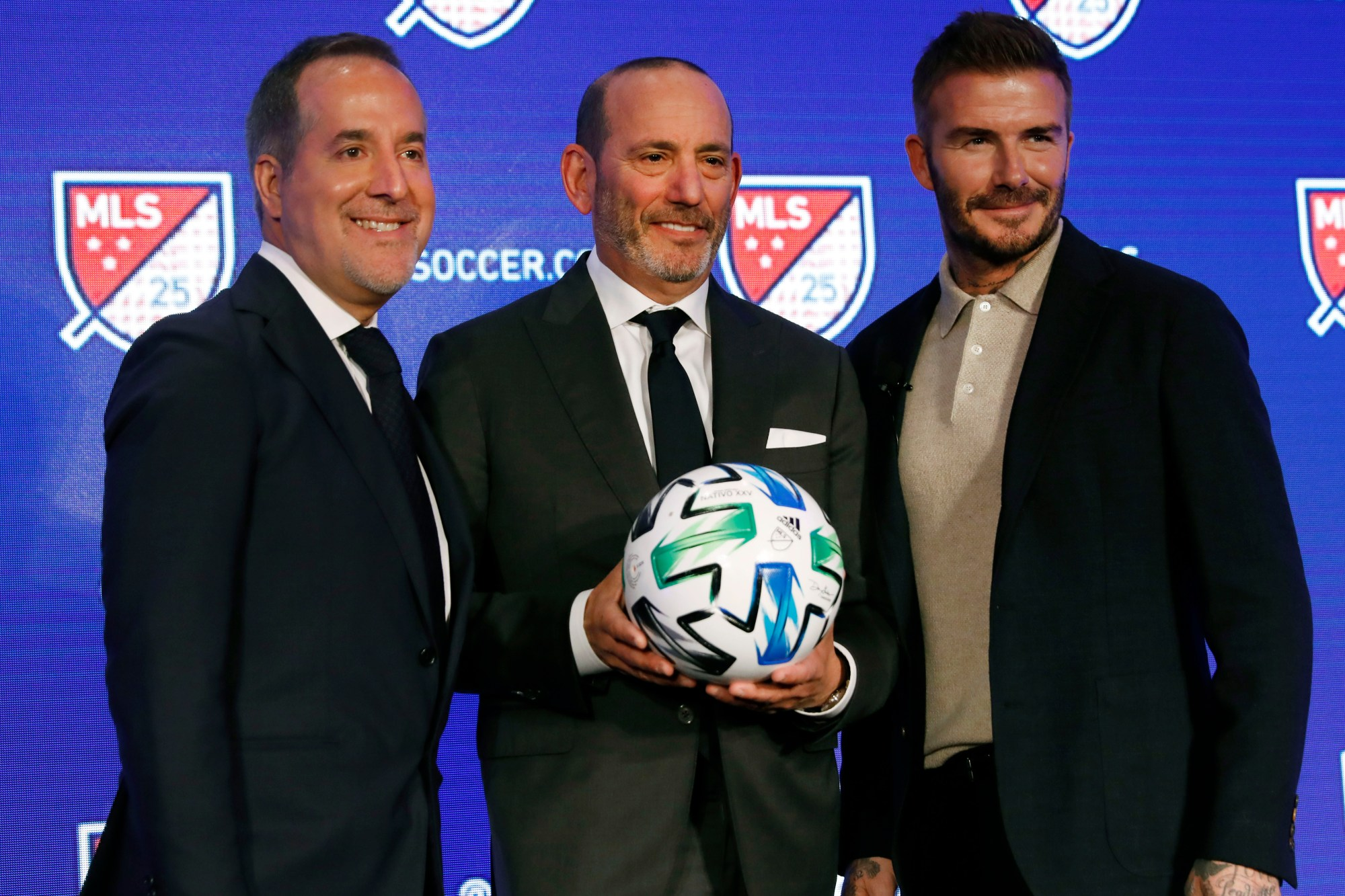 Jorge Mas, Don Garber, David Beckham