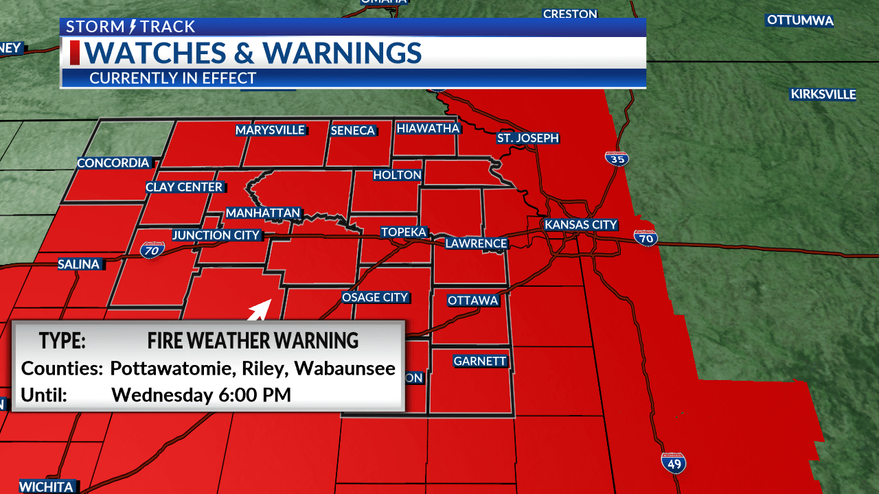 Extremely high fire danger today as winds become strong