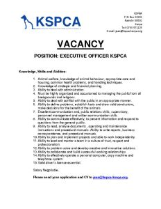 thumbnail of VACANCY EXECUTIVE OFFICER