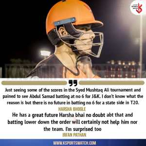 Harsha Bhogle, Irfan Pathan 'surprised' to see Abdul Samad batting at no. 6