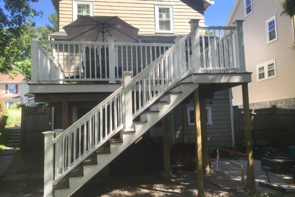 Large house with back deck