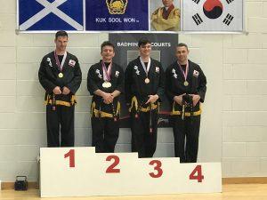 Medal winners on podium