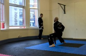 Black belt performing traditional forms (Hyung)