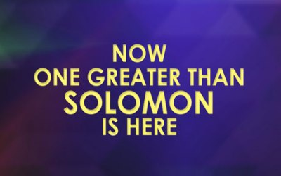 Now One Greater Than Solomon