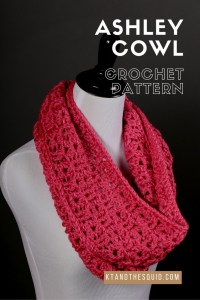 Ahsley Cowl crochet pattern by kt and the squid