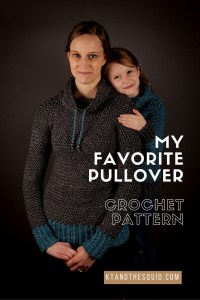 Crochet pullover pattern by KT and the Squid