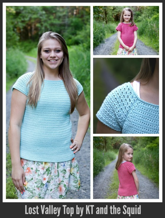 Lost Valley Top Crochet Pattern by KT and the Squid