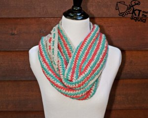 Trail Cowl Free crochet pattern KT and the Squid