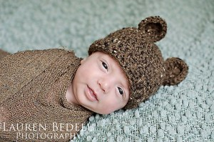 Free crochet bear hat pattern