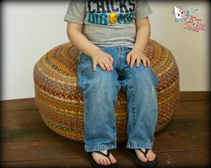 Stash Busting Monster Pouf: A Free Crochet Pattern | KT and theSquid