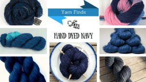 Yarn Finds Hand Dyed Navy Blue   KT and the Squid