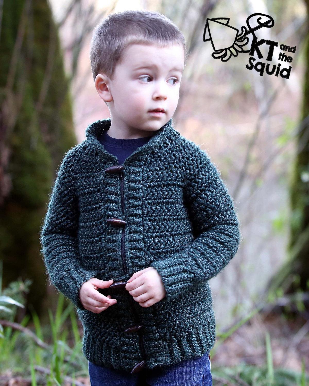 Burnside Cardigan (kids) - Crochet Pattern - KT and the Squid