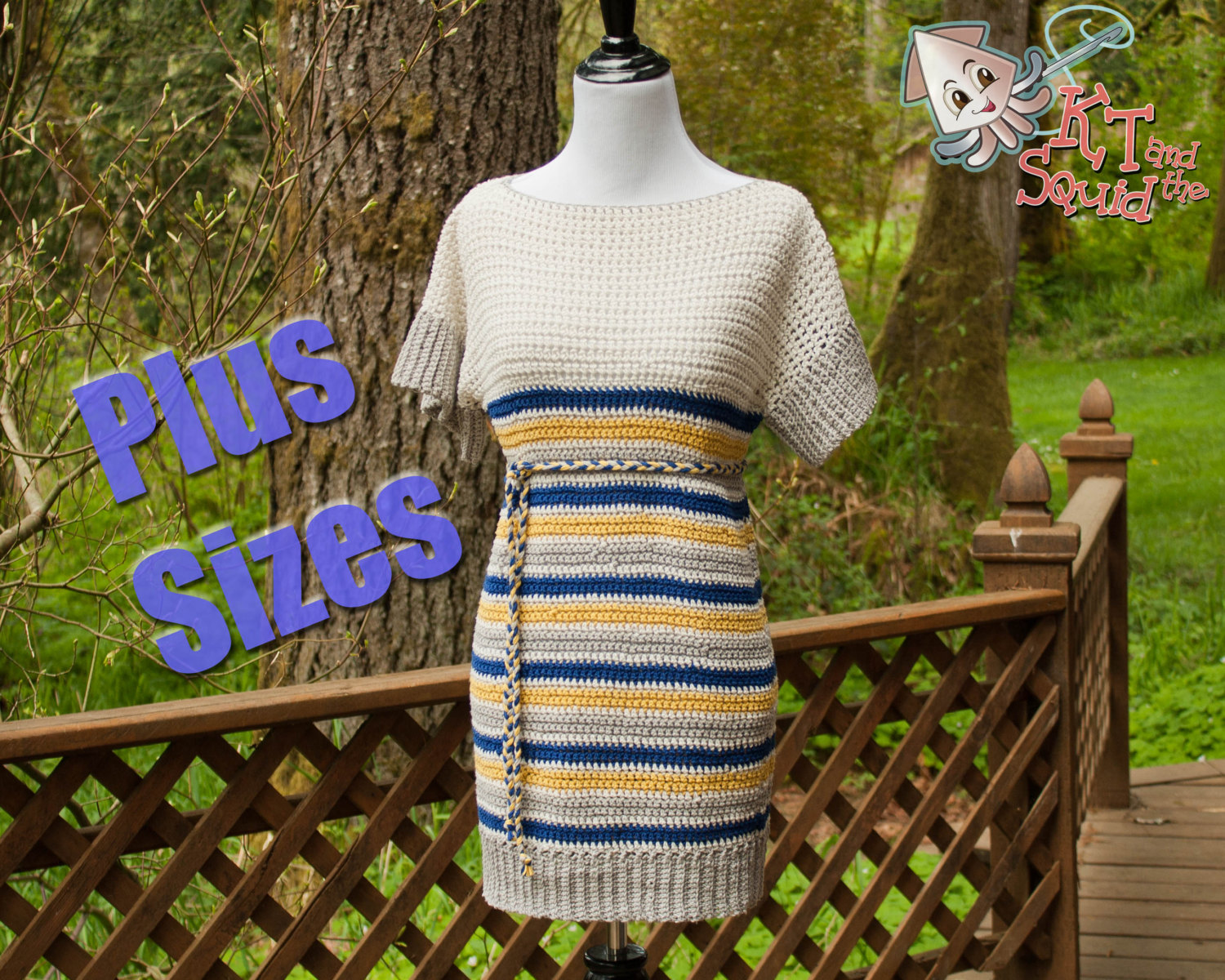 Lily Tunic (plus size) - Crochet Pattern - KT and the Squid