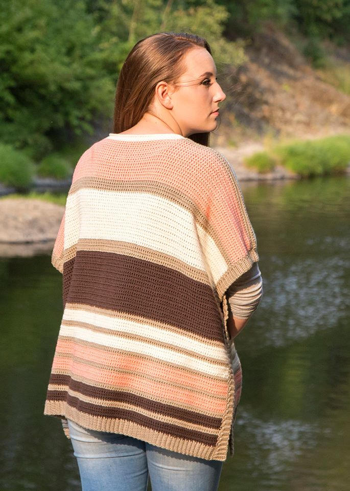 Long Road Poncho Crochet Pattern Kt And The Squid