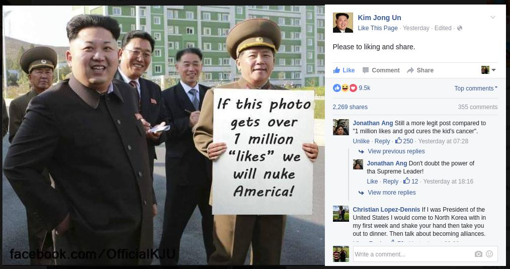 north-korean-pm-facebook-viral-image