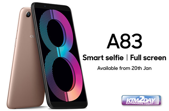 Oppo A83 now available in Nepali market