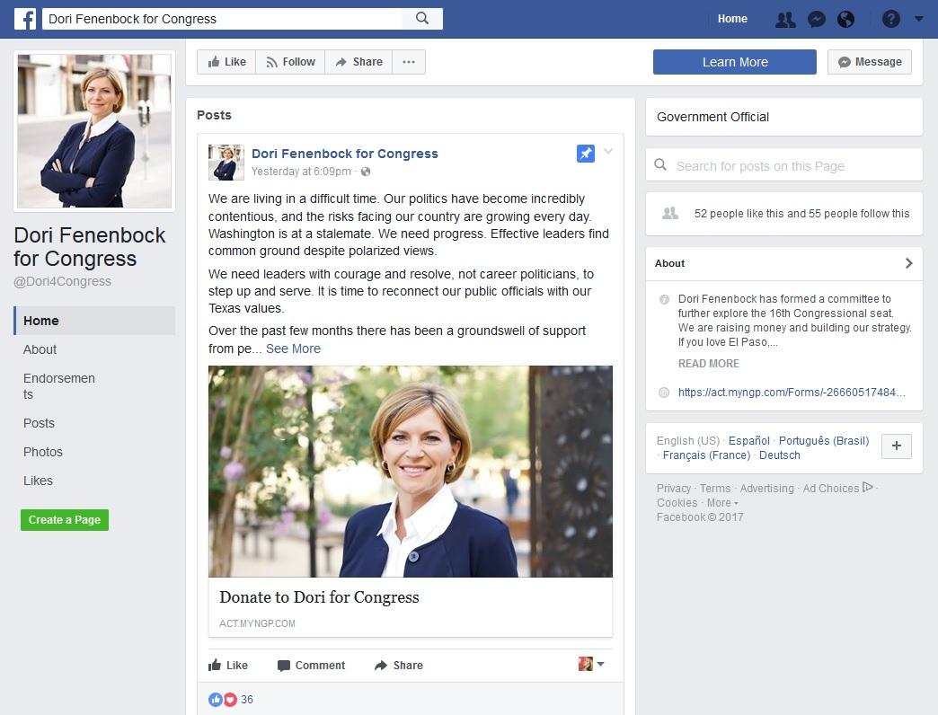 Fenenbock Facebook Snapshot