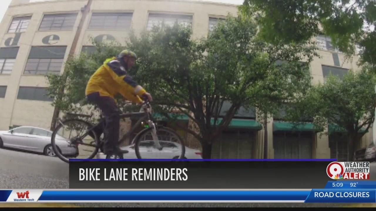 Bike lane reminders