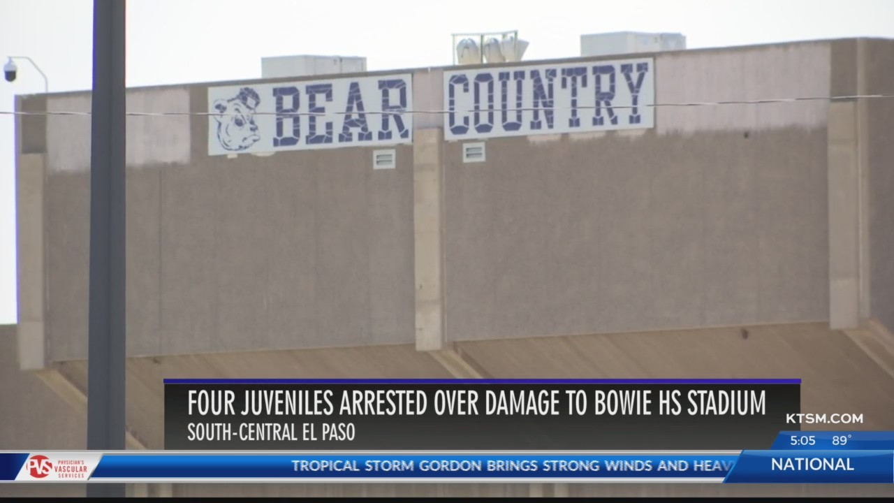 4 arrested over damage to Bowie HS stadium