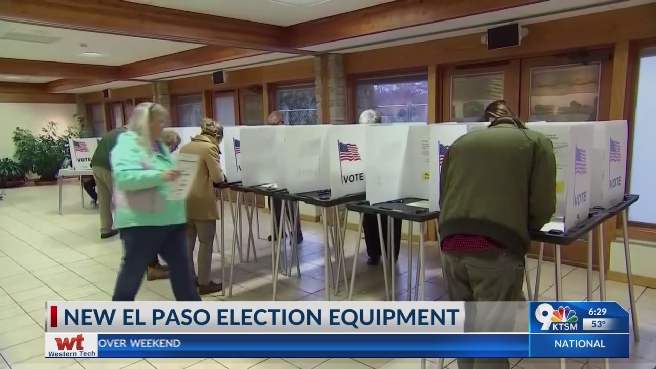 El Paso County getting new election equipment
