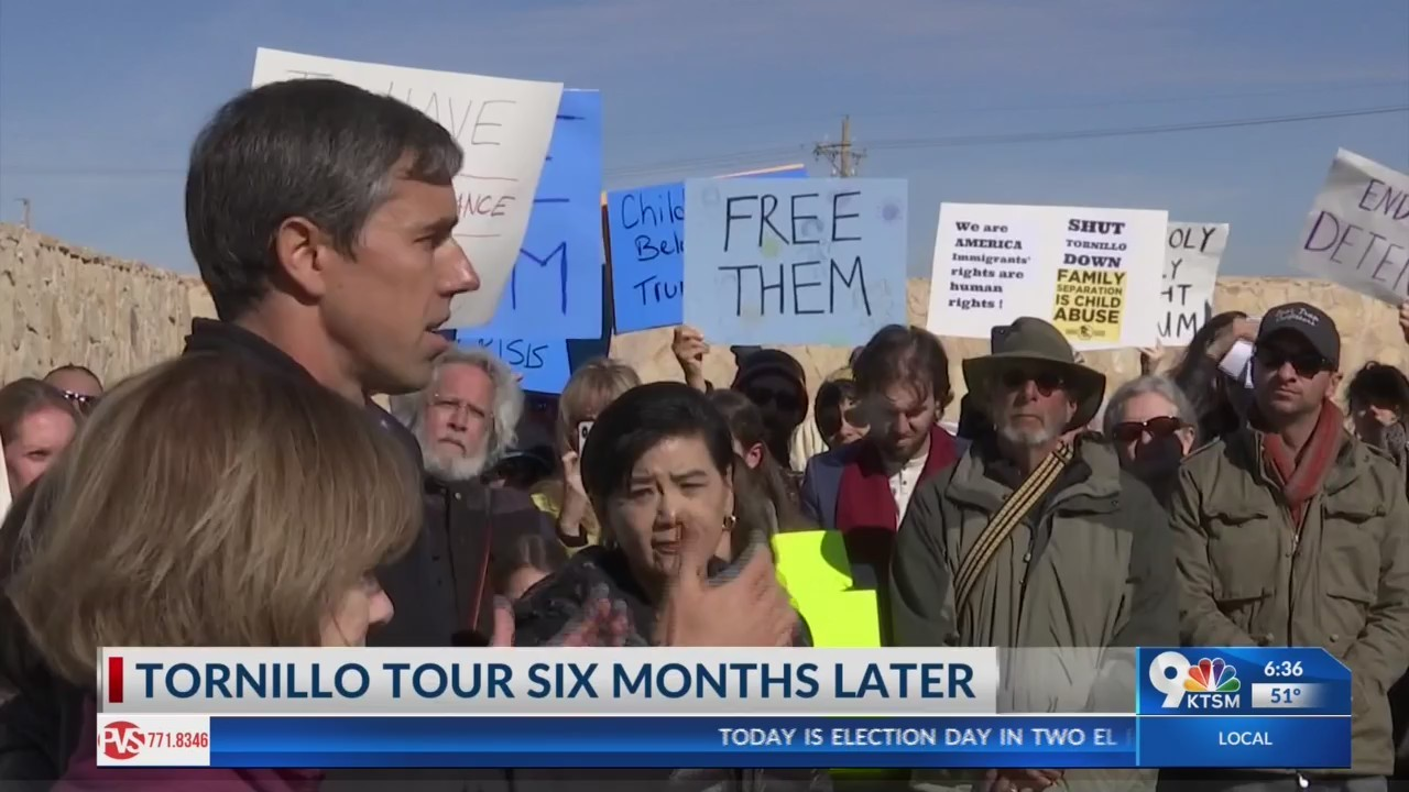 Beto O'Rourke and members of Congress visit Tornillo's 'Tent City'
