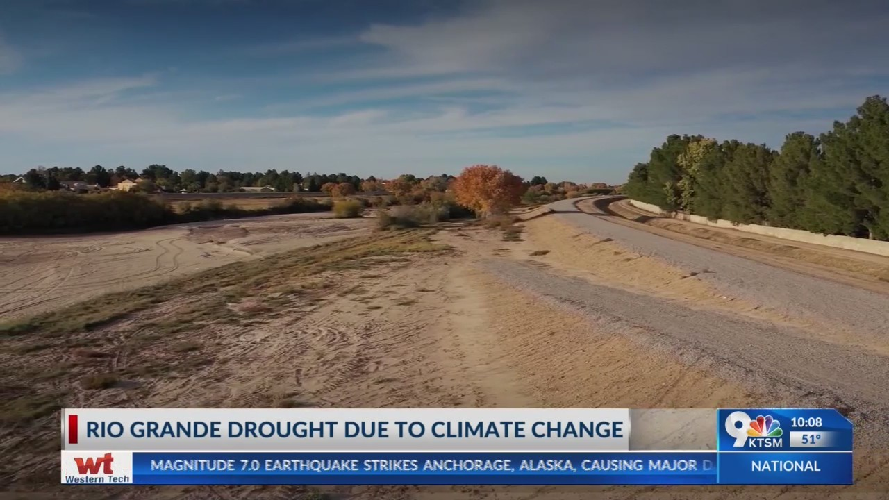 Rio Grande River drought due to climate change