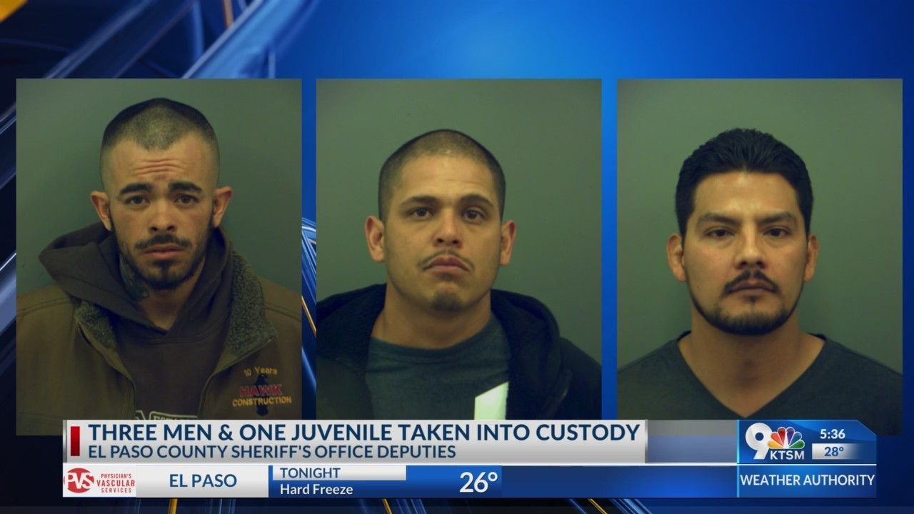 Three men and juvenile arrested by sheriff's office