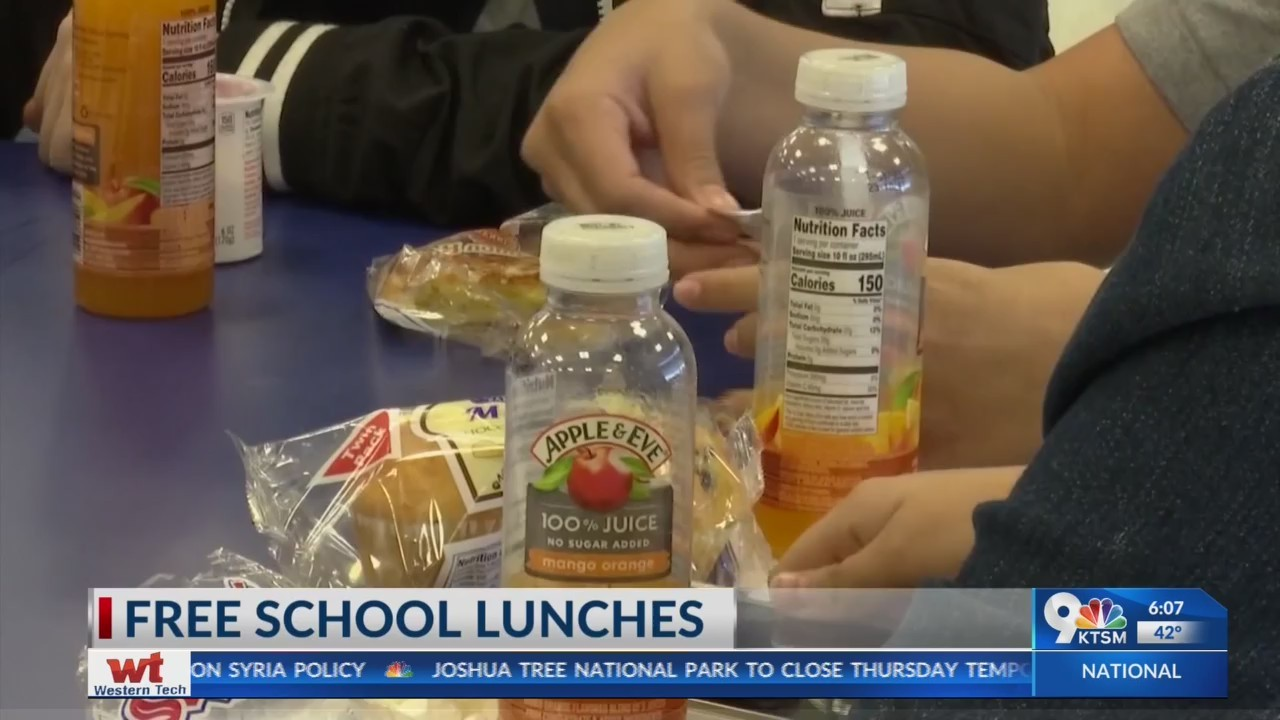 Ysleta Independent School District providing free school lunches