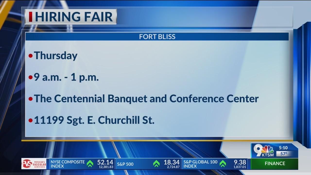Fort Bliss Hiring Fair