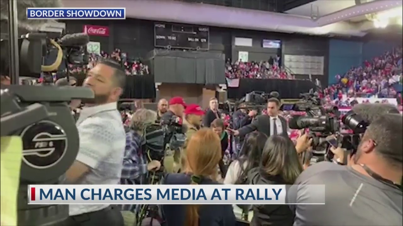 Journalists shoved at Trump rally