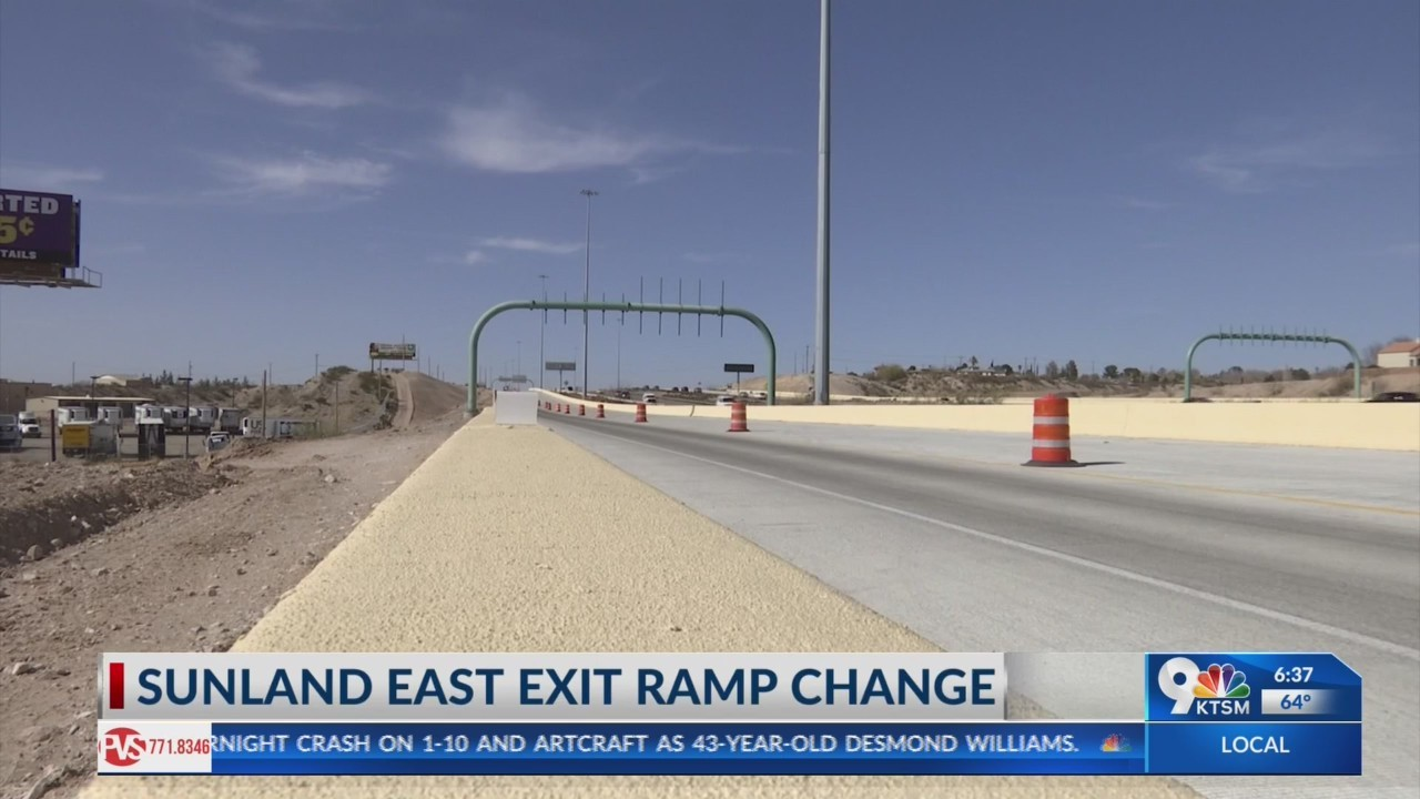 Tx-DOT to open new Sunland east exit ramp