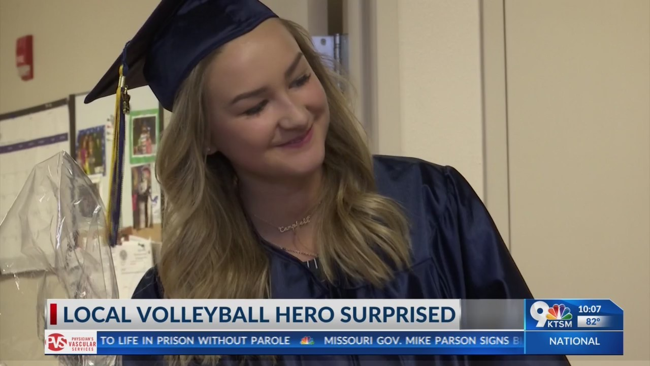 Community surprises local volleyball hero