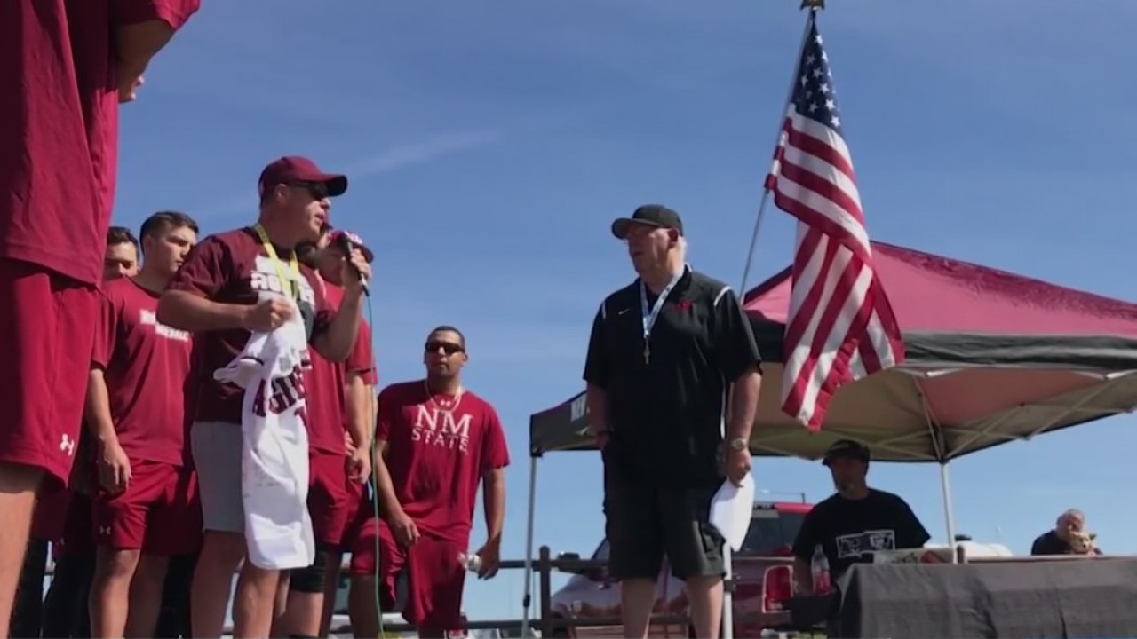 Former NMSU baseball battling ALS honored