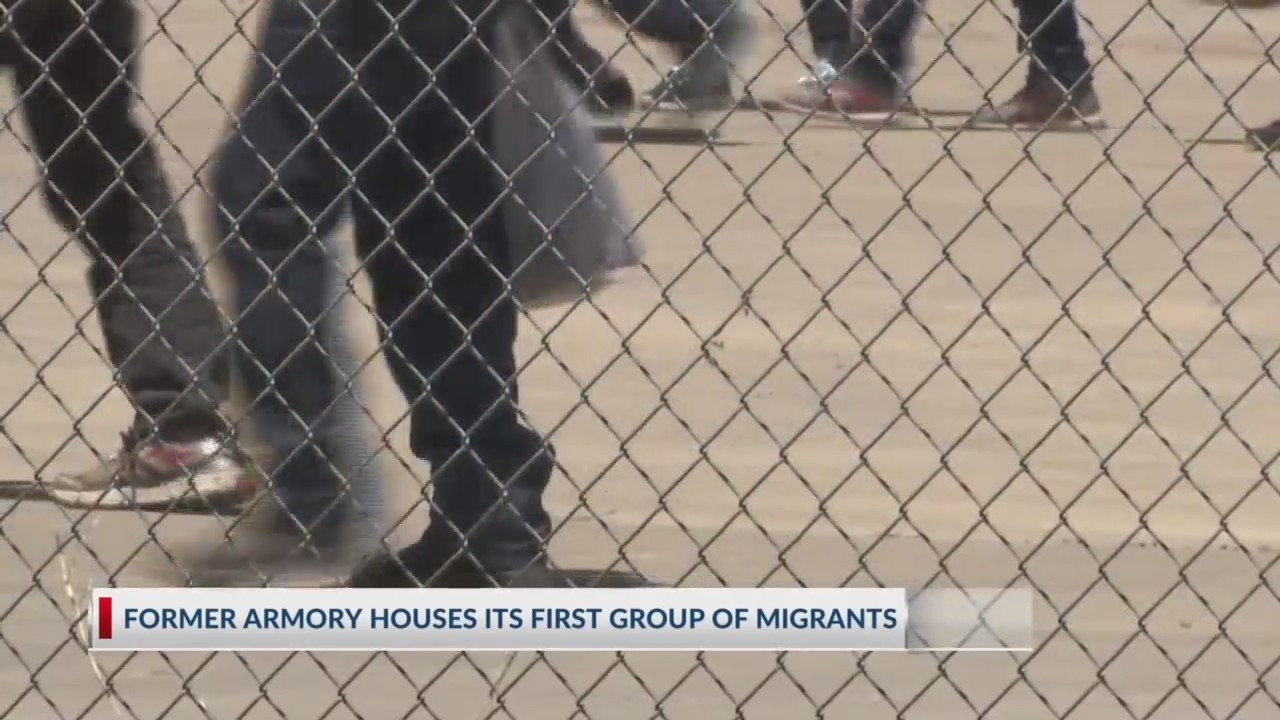 armory open to migrants