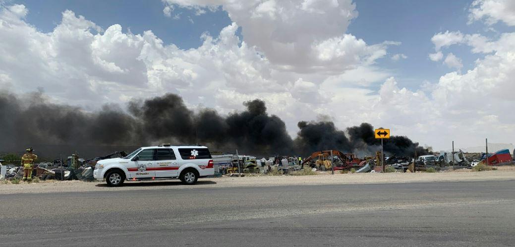El Paso Junk Yards >> 1 Injured In Clint Junkyard Fire Ktsm 9 News