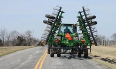 Farm Tractor on road