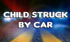 Child struck by car