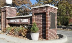 Simpson Park Sign