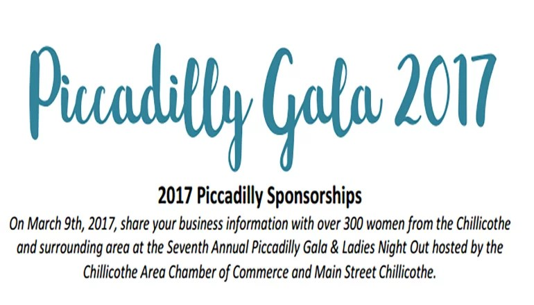 Tickets Sold Out: Chillicothe Chamber seeks sponsors for Piccadilly Gala and Auction