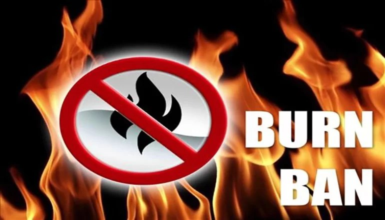 City of Trenton issues burn ban, county issues burn ban advisory