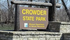 Crowder State Park Sign